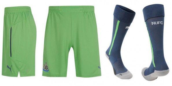 Pantaloncini calzettoni Newcastle terza divisa 2014-15