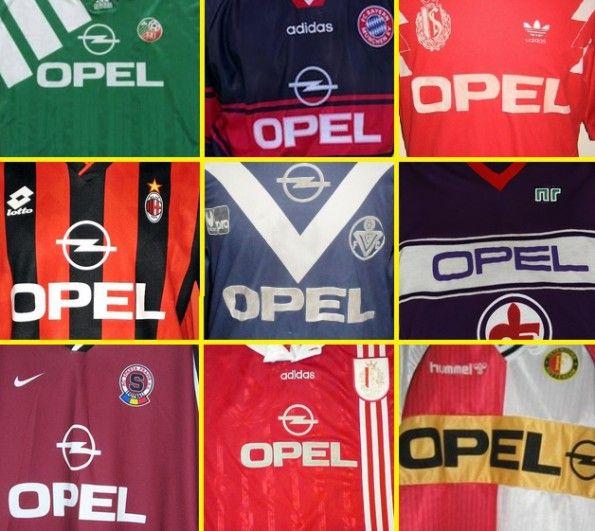 Maglie sponsor Opel