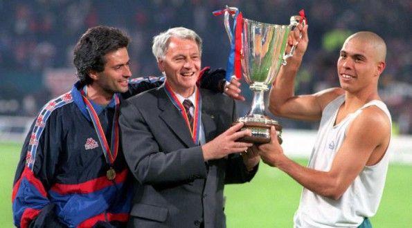Mourinho, Robson e Ronaldo ai tempi del Barcellona