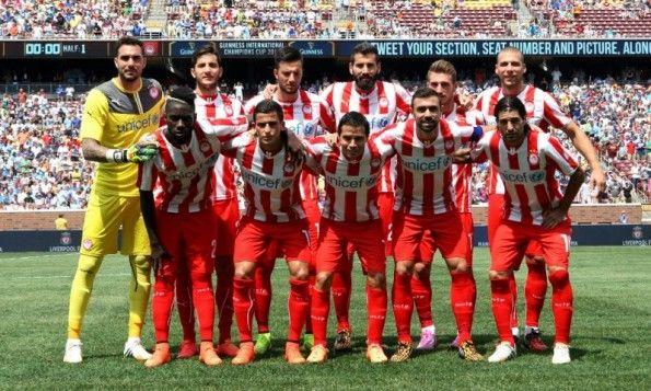 Kit Olympiakos home 2013-2015