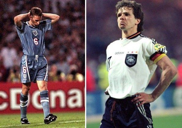 Southgate e Moller, Germania-Inghilterra 1996