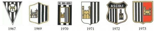 Stemmi Ascoli calcio anni '60-70