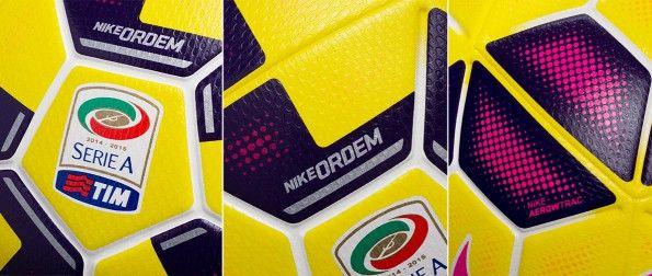 Dettagli pallone Nike Ordem Hi-Vis 2014-2015