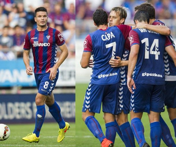 Eibar home kit 2014-2015 Hummel