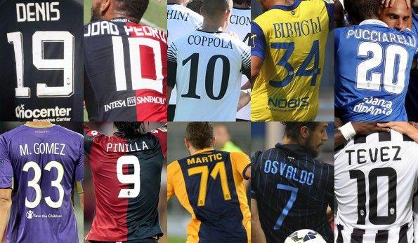 Font nomi numeri Serie A 2014-2015