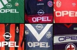 Maglie sponsorizzate Opel