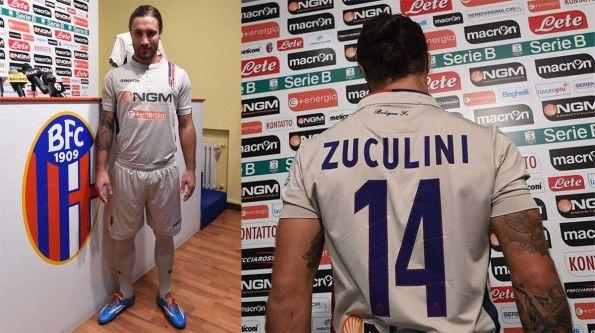 Zuculini presentazione terza maglia Bologna 2014-2015