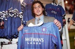 Gattuso con la maglia dei Rangers
