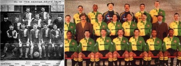 Foto lancio terza maglia Manchester United 1992-1994