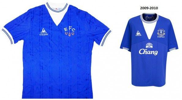 Maglie Everton 1983-1985 e 2009-2010