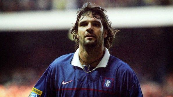 Marco Negri in maglia Rangers