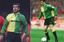 Cantona divisa Manchester United gialloverde
