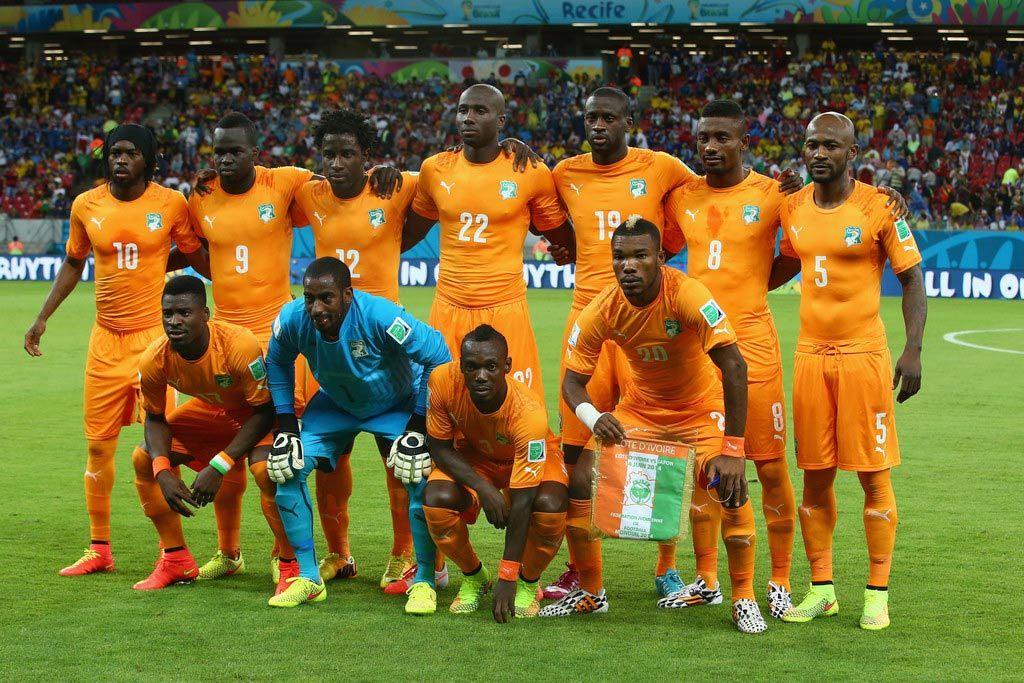 Costa d'Avorio le maglie della squadra africana