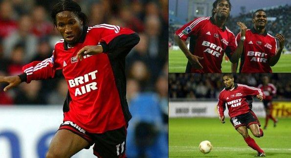 Drogba e Malouda nel Guingamp 2002-2003