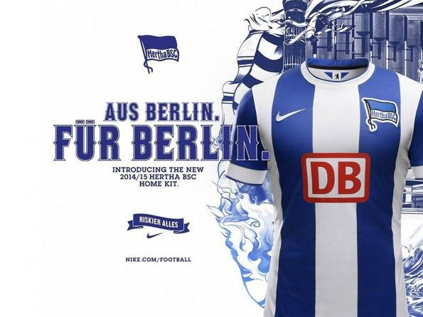 Lancio kit Hertha Berlino 2014-2015 Nike