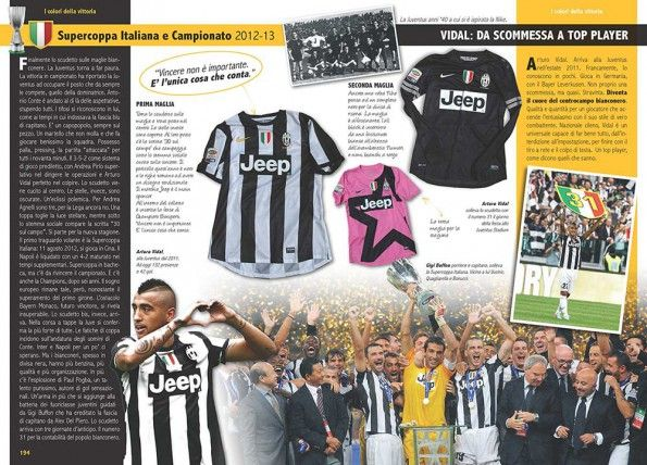 Stagione 2012-2013 libro maglie Juventus
