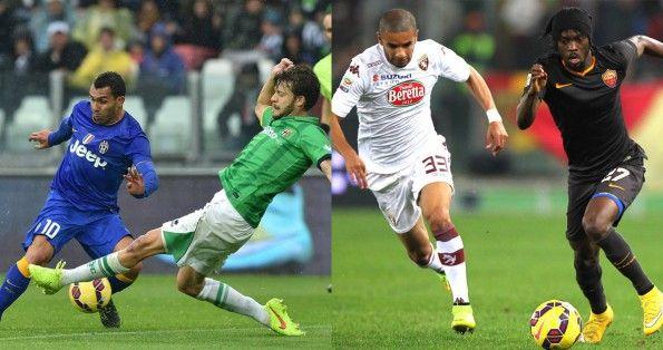 Le maglie discutibili in Juve-Parma e Roma-Torino