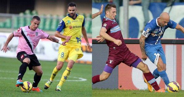 Maglie Lazio bordeaux e Cesena rosa