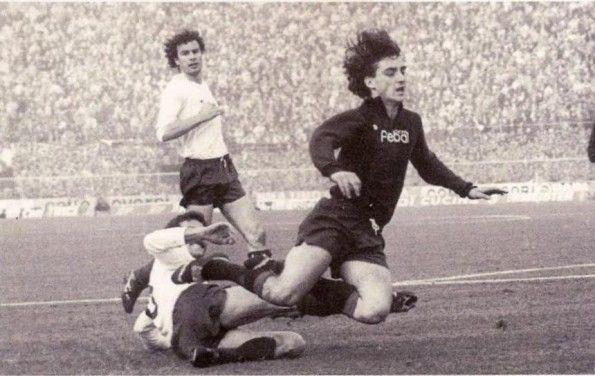 Mancini ai tempi del Bologna in Serie A