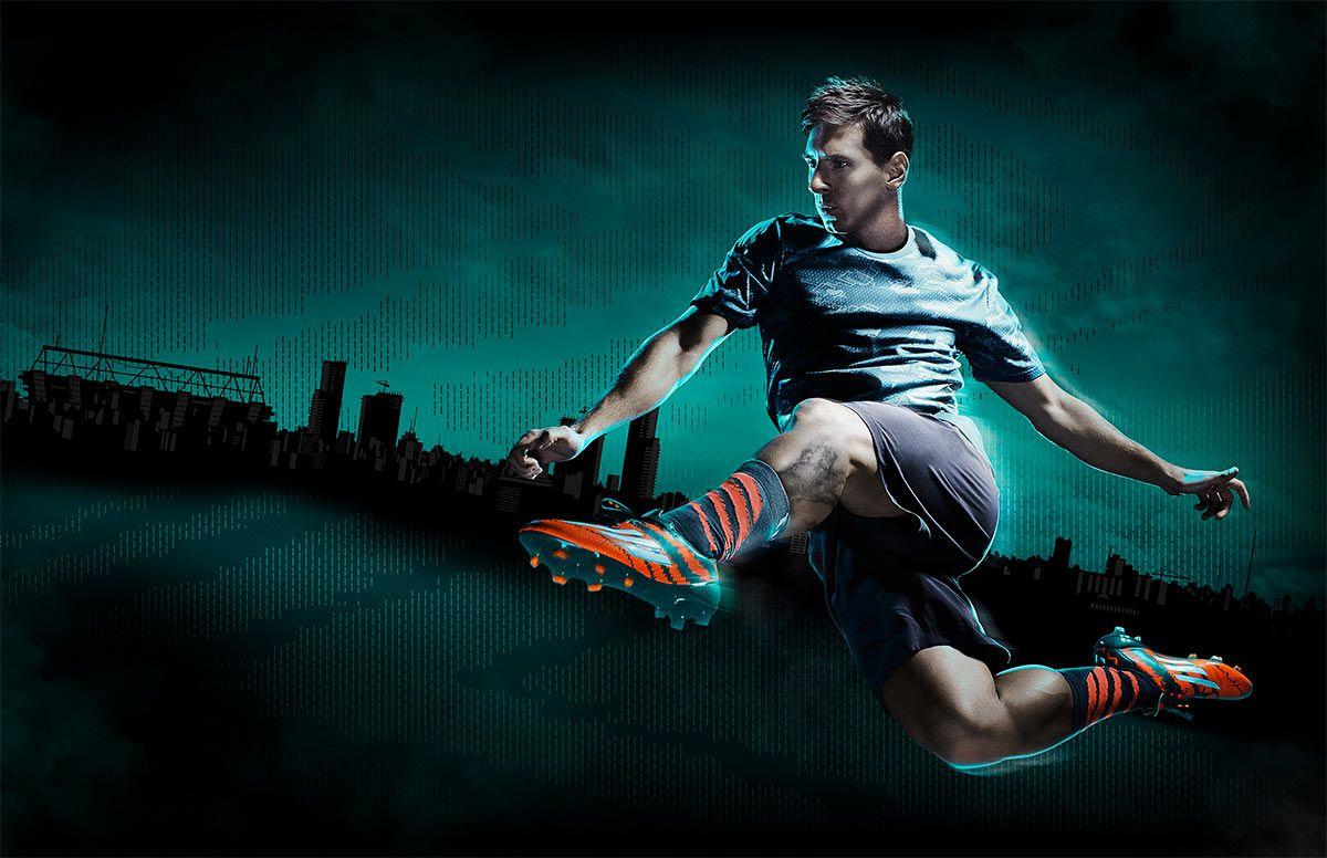 Leo Messi con le scarpe mirosar10 adidas