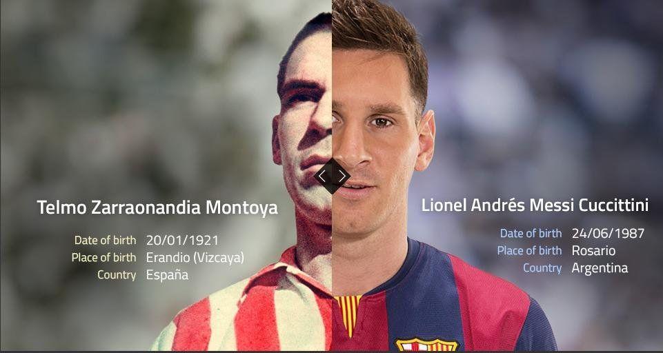 Messi e Telmo Zarra