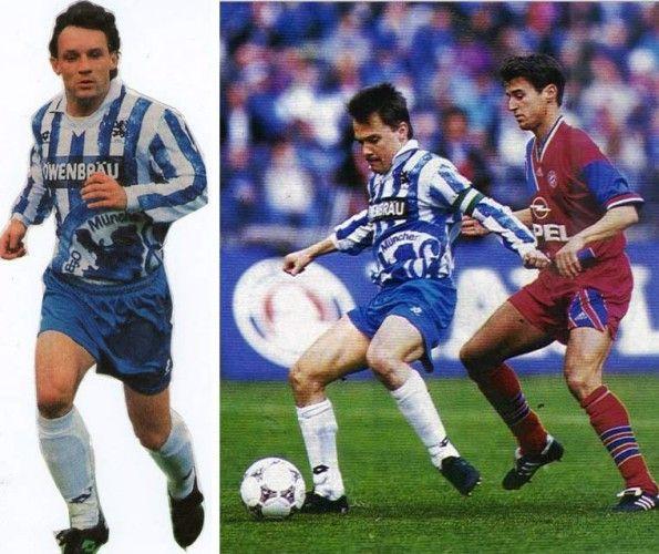 Maglia Monaco 1860 1994-1995 in campo