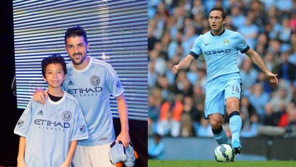 Confronto maglie New York e Manchester City