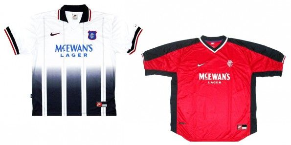 Maglie Rangers away e third 1997-1998