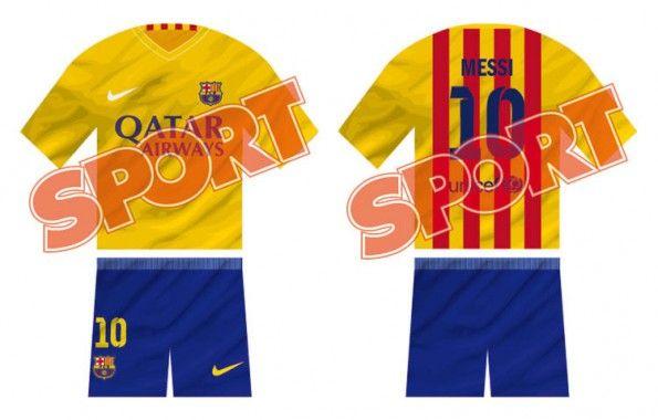 Anteprima seconda maglia Barcellona 2015-2016