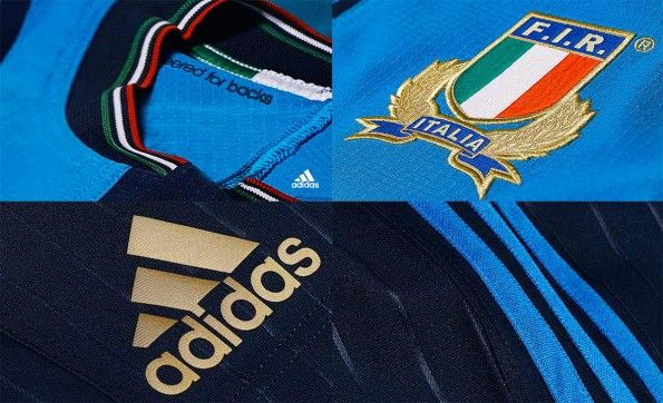 Dettagli maglia Italia rugby 2015