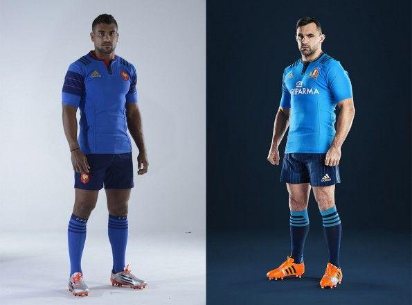 Maglie rugby Italia e Francia adidas