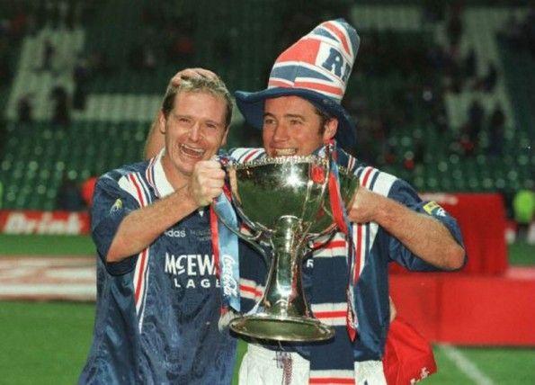 Gascoigne e McCoist Rangers 1996-1997