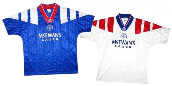 Maglie Rangers FC 1992-1993 adidas