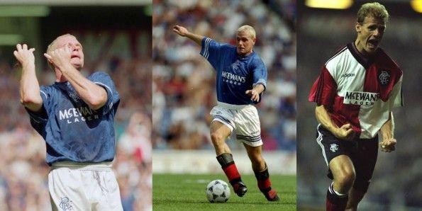 I Rangers nel 1995-96 con Paul Gascoigne