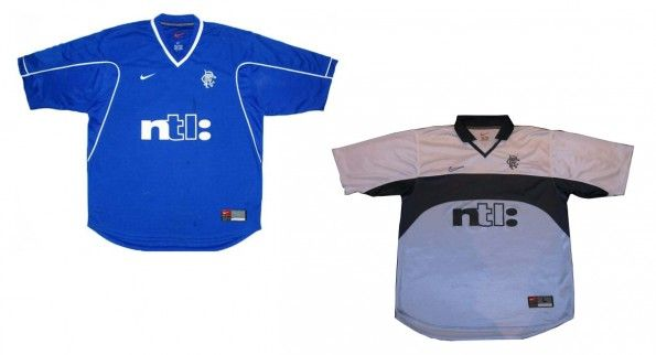Maglie Rangers 1999-2001 home e away