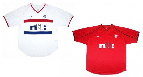 Maglie Rangers away-third 2000-2002