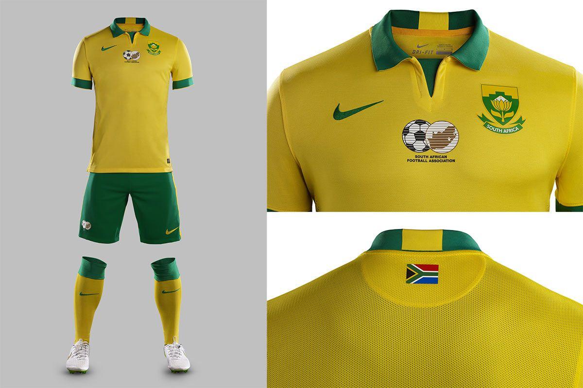 Le maglie del Sudafrica per la Coppa d'Africa 2015