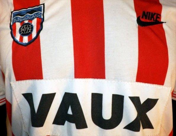 Sponsor Vaux maglia Sunderland 1985-86