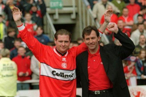 Gascoigne al Middlesbrough nel 1997-98