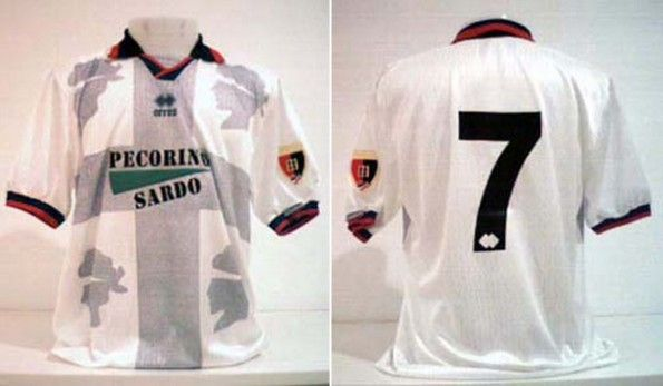 Maglia trasferta Cagliari 1995-1996 Erreà