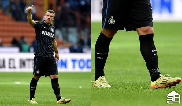 Podolski (Inter) adidas F50 adizero Earth Pack