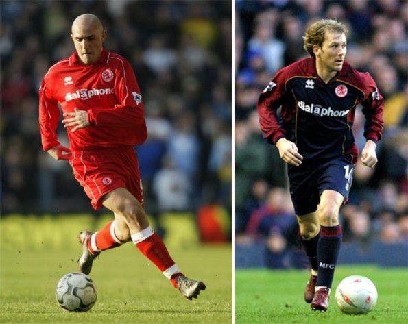 Maccarrone e Mendita nel Middlesbrough 2003-2004
