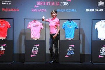 La Chiabotto con le maglie del Giro d'Italia 2015