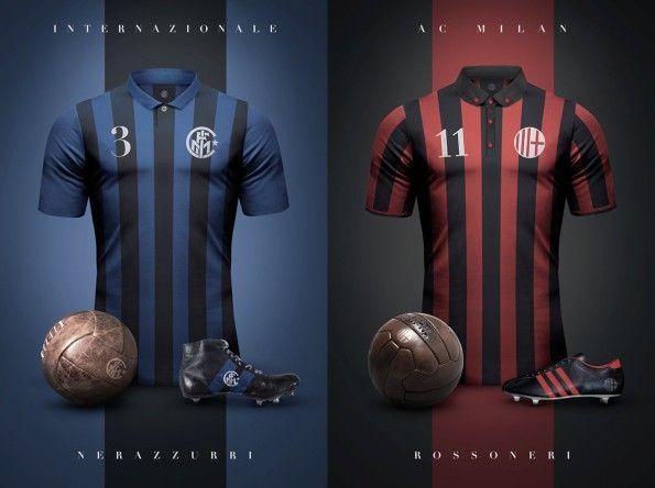 Maglie vintage Inter e Milan di Emilio Sansolini