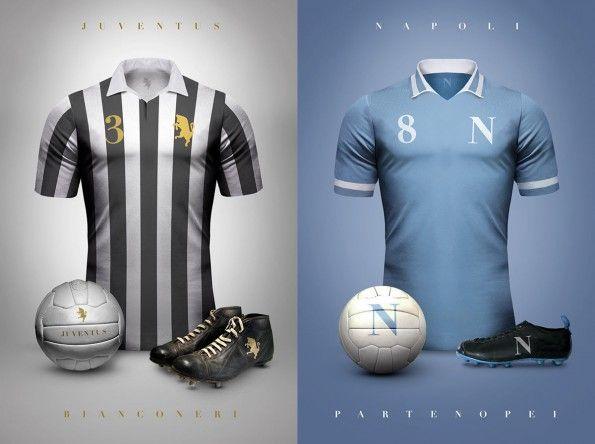 Maglie vintage Juventus e Napoli di Emilio Sansolini