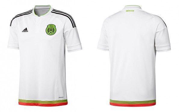 Seconda maglia Messico 2015-2016 bianca