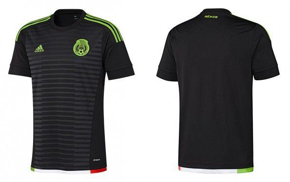 Maglia Messico 2015-2016 nera adidas
