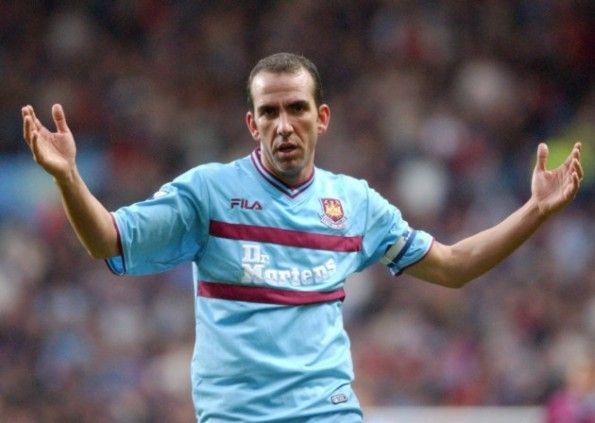 Di Canio maglia celeste West Ham 2001-2002 Fila