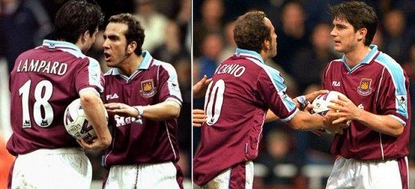 Di Canio e Lampard al West Ham
