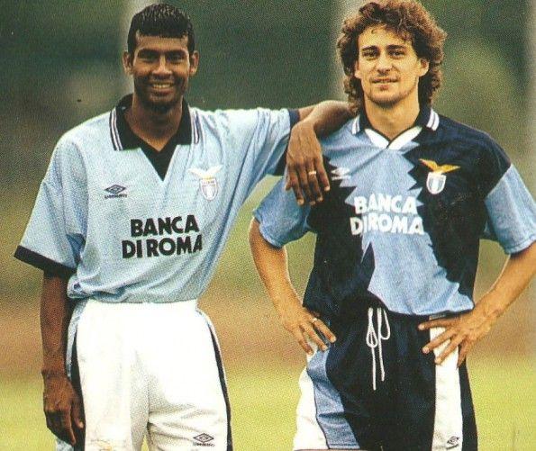 Winter e Gottardi, divise Lazio 1995-1996 Umbro